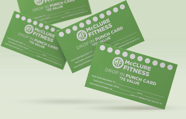 McClure Fitness Local Class Punch Card